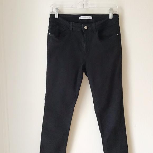 Zara Black Skinny Stretch Denim Jeans